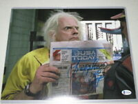 Christopher Lloyd Signed 11x14 Back to the Future Photo Autograph Beckett COA 3