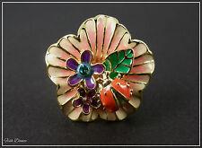 Jon Richard Cristal & Esmalte Ladybird/Flor Anillo De Oro Billete Precio £ 12 (31)