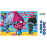 Dreamworks Trolls Birthday Party Poster Game For 2-8 Players Poppy