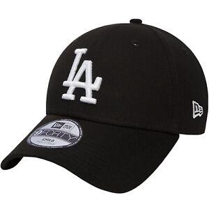 New Era Kids LA Dodgers Adjustable 9Forty Cap Hat - Black - 4-6 Yrs