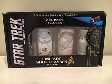 Star Trek: The Original Series Fine Art Shot Glasses Set #15 New In Box