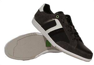 HUGO BOSS Green Eldorado Shine Black Men's Sneakers 50298179 001 Medium (D, M)