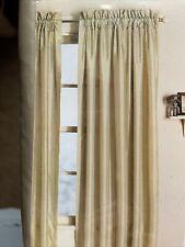 2 Panels Martha Stewart Satin Taffeta Curtains 55 In. W X 84 In. L Each