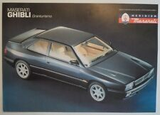 MASERATI GHIBLI orig 1992 1993 UK Mkt Sales Leaflet Brochure in English
