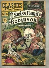 Classics Illustrated #42-1947 gd+/gd 1st edition Wyss Swiss Family Robinson