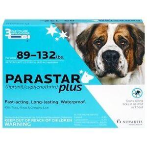 Parastar Plus 3pk 89-132lb Flea & Tick by Novartis by Novartis