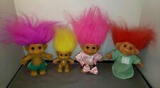 Lot of 4 Troll Dolls (1) 1986 DAM (3) Russ