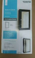 Brand New Style SELECTIONS White Bathroom Medicine Cabinet