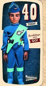 BIRTHDAY CARD AGE 40 THUNDERBIRDS TOP QUALITY  TB049