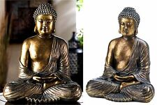 "11.8"" SITTING BRONZY-METALLIC LIKE BUDDHA STATUE FIGURINE SCULPTURE ** NIB"
