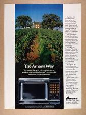 1981 Amana Touchmatic II Radarange Microwave vintage print Ad