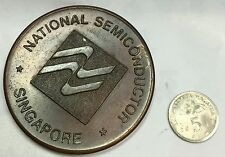 1982 Singapore National Semiconductor Athletic medal -Big size Token !