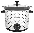 BLACK+DECKER 4 Quart Dial Control Slow Cooker with Built in Lid Holder, 3 Colors