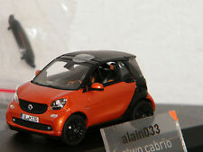 SMART Fortwo Cabrio 2015 Orange/Black  NOREV 1/43 Ref 351422