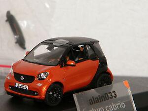 SMART Fortwo Cabrio 2015 Orange/Black  NOREV 1/43 Ref 351422