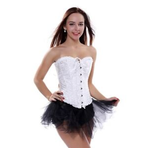 CORSETS and BUSTIER Women's LACE UP Over bust Corset Lingerie Vintage Top