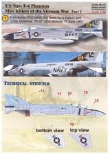 Print Scale Decals 1/48 U.S. NAVY F-4 PHANTOM II MiG KILLERS IN VIETNAM Part 1