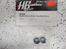PARTS NEW Hot Bodies (HB), 67529 Big bore shock bottom cap Black D8