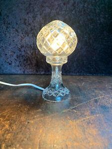 Art Deco Cut Crystal Boudoir Lamp,  Westmore Hand Cut Crystal Stunning!!!