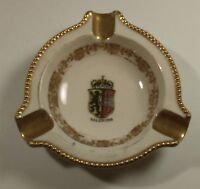 Salzburg Vintage Collectible White Ashtray Lion Coat Of Arms Shield 1960's