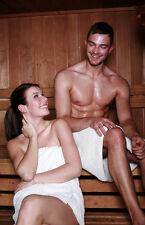 Hombre Sauna Kilt Saunakilt Pareo Toalla de blanco 100% Algodón TALLA ÚNICA