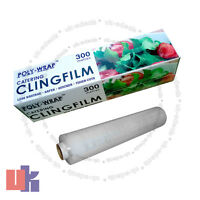 CLING FILM CATERING SIZE KEEP FOOD FRESH PLASTIC WRAP KITCHEN 300mm x 300m
