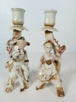 Conta & Boehme Germany Figural Candle Holders,  Appr. 19cm Tall