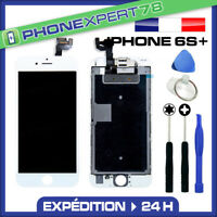 VITRE TACTILE + ECRAN LCD RETINA COMPLET SUR CHASSIS IPHONE 6S PLUS BLANC OUTILS