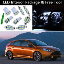 7PCS Bulbs White LED Interior Car Lights Package kit Fit 2001-2013 Ford Focus J1