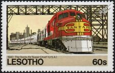 SANTA FE (ATSF) Super Chief ALCO DL-109 Diesel-Electric Train Locomotive Stamp