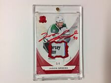 2015-16 The Cup UD JASON SPEZZA Red Game Used  AUTO MEMORABILIA Logo Relic 3/4