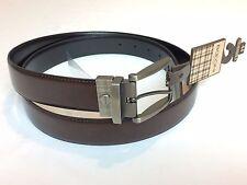NWT NEW $80 Boconi Belt Leon Black Brown Leather Reversable Belt Size 44
