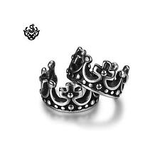 Silver ear cuff stainless steel crown earrings soft gothic Sydney stock
