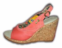 Ladies fashion cork wedge sandals AUBREY rust Caterpillar sizes 3-8 MRP £59.99
