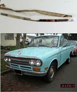1968-1972 DATSUN 521 Pickup Truck Chrome Front Bonnet Hood Nos Japan
