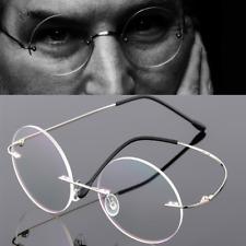 Rimless Vintage Round Eyeglasses frames Eyewear Spectacles Retro glasses silver