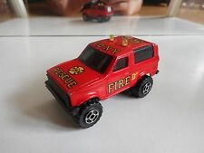 Majorette Sonic Flashers Jeep Fire Rescue in Red