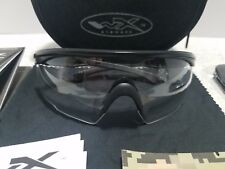 Wileyx PT-1C Clear Lens Matte Black Frame Shooting Glass Protective Eyewear