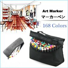168 Colors Art Marker Permanent Paint Pens Twin Sketch Dual Tip Broad Fine Point
