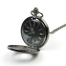 Men Womens Retro Vintage Antique Steampunk Quartz Necklace Pocket Watch Gift