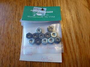 Bowser Parts #632 / PK.12_HEX NUTS_ 6 32
