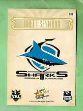 2009 Select Nrl Champions Rugby League Card Sk8 Brett Seymour, Sharks