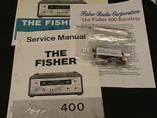 Fisher Model 400 Vacuum Tube Receiver restoration Kit Now with FULL COLOR PHOTOS