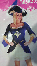 Sexy Women Three Musketeers Amazing Blue High Quality Velvet Roleplaying Costume