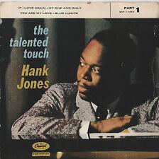 """Hank Jones-Le talentueux touch 7"""" EP 1958"""