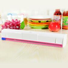 Kitchen Plastic Film Wrap Cling Dispenser Cut Food Storage Holder Cutter Best