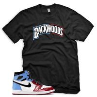 "New Black ""BACKWOODS"" T Shirt for Jordan 1 Fearless UNC Chicago"