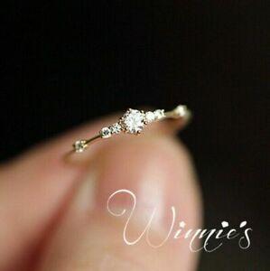 Fashion Women White Sapphire Wedding Jewelry 18K Yellow Gold Filled Wedding Ring