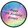 DISCO PREMIUM EDIBLE ICING BIRTHDAY PARTY CAKE DECORATION IMAGE TOPPER