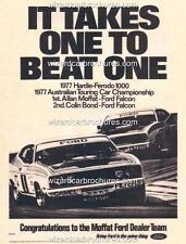 1977 ALLAN MOFFAT FORD DEALERS TEAM XC FALCON GT BATHURST A3 POSTER AD ADVERT